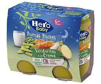 Hero Baby Buenas Noches Tarrito de verduras a la crema, a partir de 6 meses 2 x 190 g