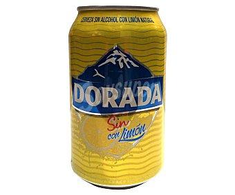 Dorada Cerveza sin alcohol con limón natural Lata 33 cl