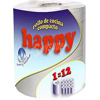 HAPPY Rollo de cocina compacto 2 capas suave y resistente Rollo 1 unidad