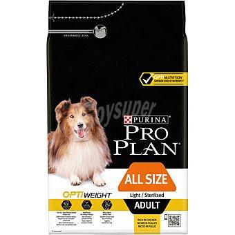 Pro Plan Purina Alimento especial para perros con tendencia al sobrepeso cualquier raza con pollo y arroz bolsa 3 kg Bolsa 3 kg