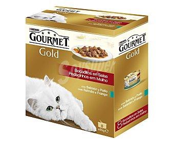 Gourmet Purina Comida para Gatos Salmon y Pollo 8 unidades de 85 g