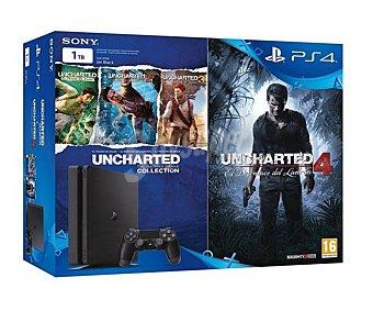 Sony Playstation 4 con 1 TB de memoria interna y un mando más Uncharted Collection y Uncharted 4 1 unidad
