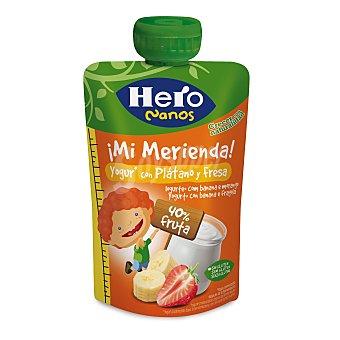 Hero Nanos  Supermerienda yogur para llevar con plátano y fresa  Bolsita 100 g