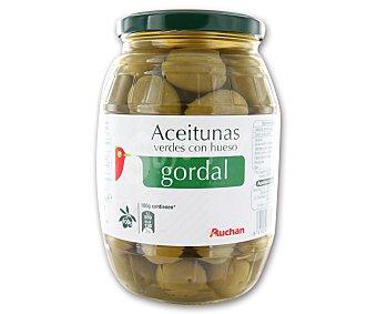 Auchan Aceitunas verdes con hueso gordal 550 gramos peso escurrido
