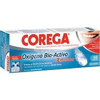 Corega Limpiador oxigeno Bio-Activo en tabletas Caja 66 unid