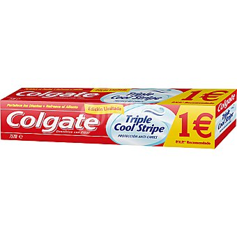 Colgate Pasta dentífrica triple Cool Stripe Tubo 75 ml