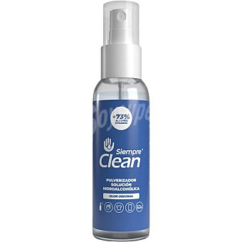 Siempre Solución hidroalcohólica higienizante 73% de alcohol olor original clean Spray 100 ml
