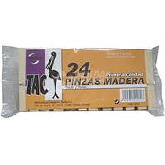 Tarres Pinzas de madera 75 mm Pack 24 unid