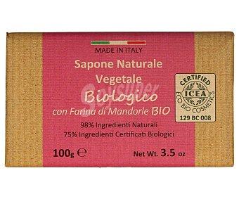 Iteritalia Pastilla de jabón natural vegetal, con aceite de almendras 100 g