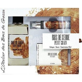 ABG Bois de Cedre Petit Grain eau de cologne masculina + jabón + vaporizador 15 ml estuche 1 unidad 200 ml