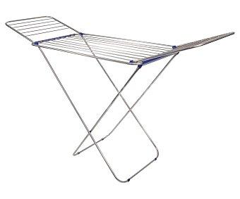 Idealcasa Tendedero plegable de aluminio. Amplitud de secado: 18 metros lineales, 175x55x110cm. idealcasa