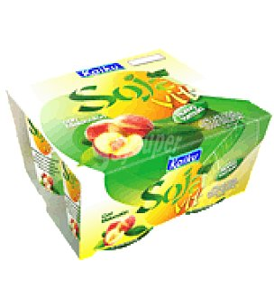 Kaiku Yogur bifidus sojavit con melocotón Pack de 4x125 g