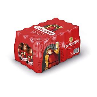 Cruzcampo cerveza rubia nacional pack 24 botellas 25 cl