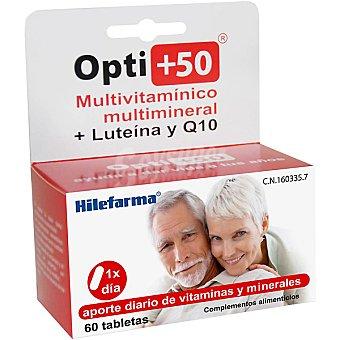 HILEFARMA OPTI+50 Multivitamínico multimineral + luteína y Q10 Envase 60 comprimidos