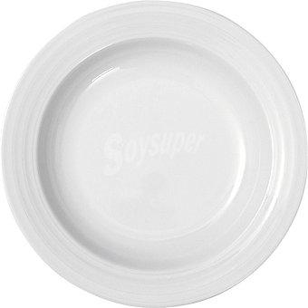 CASACTUAL Roulette Plato hondo redondo en color blanco 23 cm