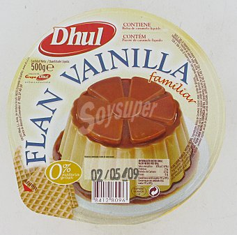 Dhul Flan de Vainilla Familiar 500 g