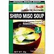 Miso soup S&B Caja 30 g Shiro