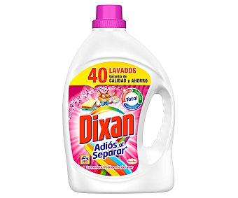 Dixan Detergente gel Adiós al Separar Garrafa 40 dosis