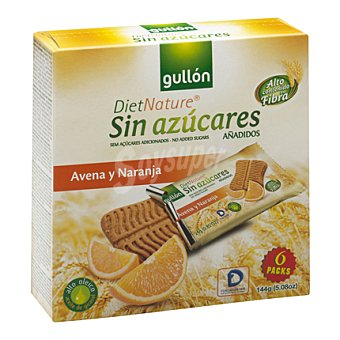 Gullón Galleta snack avena y naranja Diet Nature 144 g