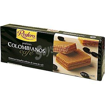 REGLERO COLOMBIANOS Barquillos rellenos de crema de cafe Estuche 260 g