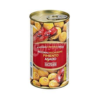 Hacendado Aceituna rellena pimiento asado Lata 350 g escurrido 150 g