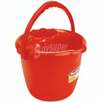 Eroski Cubo + escurridor fucsia 14 litros Pack 1 unid