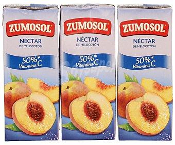 Zumosol Néctar de Melocotón Brik pack 3 x 20 cl