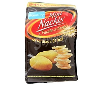 Bicentury Mini tortitas de patata (Nackis mini) 50 Gramos