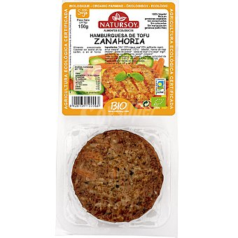 Natursoy Hamburguesa de tofu y zanahoria pack 2 unidades estuche 150 g Pack 2 unidades (150 g)