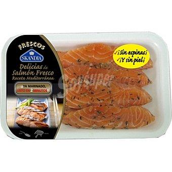 Skandia Delicias de salmón fresco sin espinas y sin piel ya marinado listo en 2 minutos Bandeja 195 g
