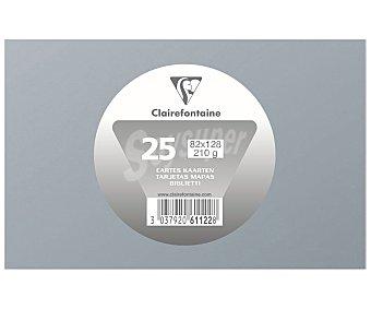 Clairefontaine Lote de 25 tarjetas de visita de tamaño 82 x 128 mm, peso de y de color plata clairefontaine 210 g