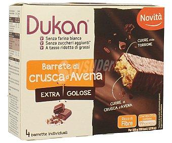 DUKAN Barrita de avena y chocolate 4 unidades de 30 gramos