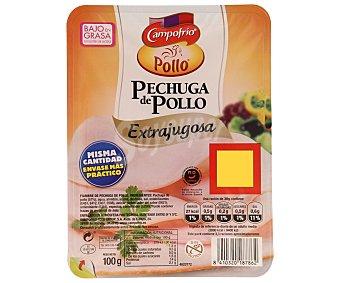 Campofrío Pechuga de pollo extrajugosabaja en grasa en lonchas 100 gramos