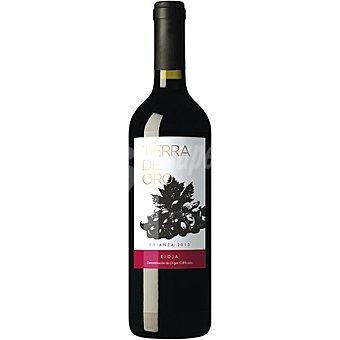 TIERRA DE ORO Vino tinto crianza D.O. Rioja elaborado para grupo El Corte Inglés Botella 75 cl