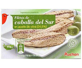 Auchan Caballa del sur en aceite de oliva en filetes Lata de 85 grs