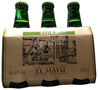 EL MAYU Sidra 6 botellines de 250 cc
