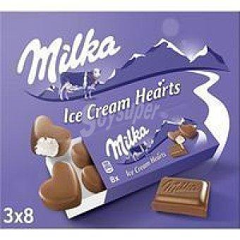 Milka Helado de crema tipo bomboncitos small hearts Caja 162 g