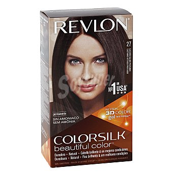 Revlon Color Silk Tinte Castaño Calido Profundo nº 27 permanente y sin amoniaco caja 1 unidad Caja 1 unidad
