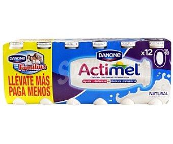 ACTIMEL de DANONE Yogur Lactocasei Imunitass Desnatado 0% MG Pack 12 Unidades de 100 Gramos