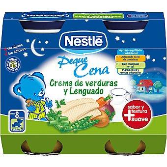 Nestlé Tarrito de verdura-lenguado Peque Cena Pack 2x200 g