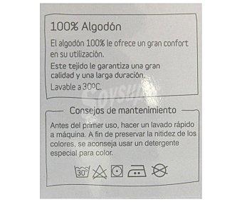 AUCHAN Funda para relleno nórdico de 105 centímetros, color blanco, 100% algodón 1 Unidad