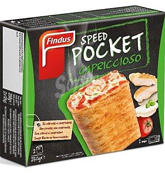 Findus Speed Pocket capriccioso tomate, mozzarella, pollo, albahaca Caja 2 unidades x 125 g
