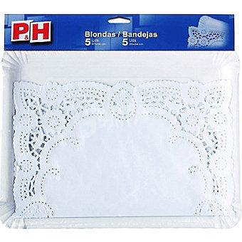 P & H Blonda 31x38 con bandeja de cartón 25x34 Estuche 5 unidades