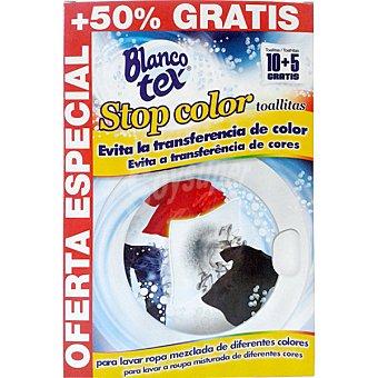 Blancotex Toallitas que evitan el traspaso de colores durante la colada Caja 10 unidades