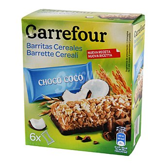 Carrefour Barritas de muesli con chocolate y coco 6 barriats (150 g)