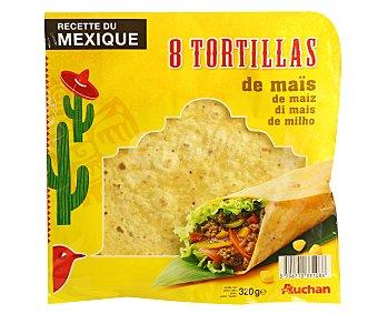 Auchan Tortillas de Maíz 320 Gramos (8 Unidades)