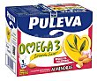 Preaprado lacteo desnatado, enriquecido con almendras, ácido oleico y Omega 3 6 x 1 l Puleva Omega 3