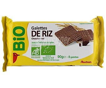 Auchan Tortitas de arroz ecológicas con chocolate negro Bio 90 gr