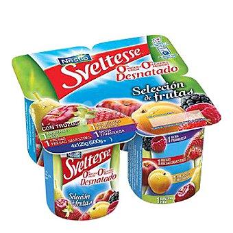 Sveltesse Nestlé Yogur desnatado Duo de Frutas Pack de 4x125 g