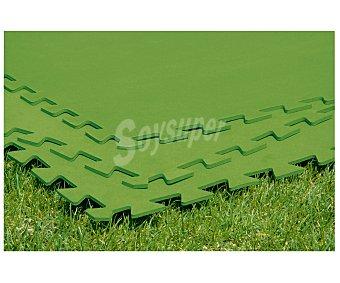BESTWAY Suelo protector de polietileno verde acolchado y desmotable. Se compone de 8 piezas de 81x81 centímetros que hacen una superficie total de 5.25 metros cuadrados 8 unidades